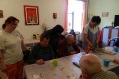 Hra bingo ve společenské místnosti